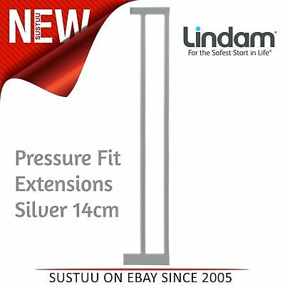 Lindam Pressure Fit Extensions│Toddler Kid's Safety Gate's Accessory│Silver│14cm