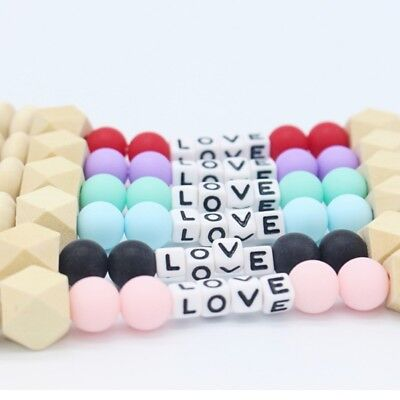 New Personalised Dummy Clip Pacifier Chain Dummie Binky Baby Soother Holder Love