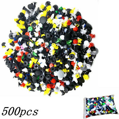 500Pcs/Pack 38Sizes Car Automotive Push Pin Rivet Body Trim Clip Panel Plastic