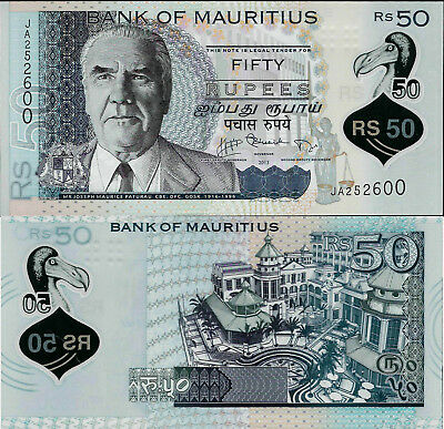 Mauritius 2013 - 50 rupees - Pick 65 UNC Polymer