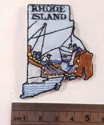 Vintage Rhode Island Patch New York NYC NY Jersey US United States USA American