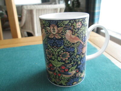 Dunoon Mug Tittled The Strawberry Thief Adapted From The William Morris Design.