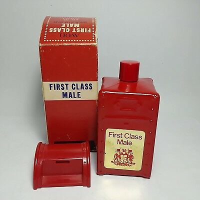 Vintage AVON First Class Male Tribute After Shave Empty Bottle In Original Box