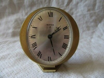 Lot11 - SWIZA 8 Swiss Made BRASS ALARM CLOCK - A/F