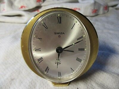 Lot18 - SWIZA 8 Swiss Made BRASS ALARM CLOCK - A/F