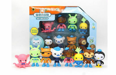 8pcs The Octonauts Action Figures Toys Captain Barnacles Medic Peso Kids Gifts