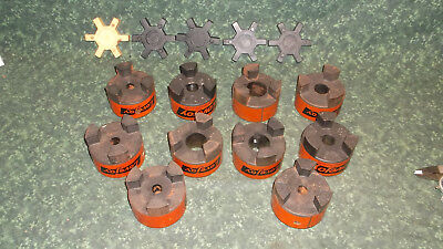 (10) NEW Lovejoy L-150 Coupling Hubs with (5) Spiders (41259E2)
