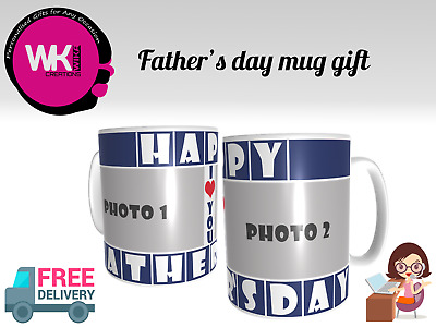 Personalised Photo Fathers Day Gift Fathers Day Coffee Or Tea Mug Cup