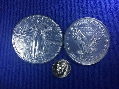 Large 3 Inch, Novelty Coins, Coaster,Paperweight,1927 Liberty Quarter,