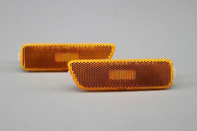 VW Golf MK4 Orange Sidemarkers Indicators Lights Lamps Pair Set US Bumper