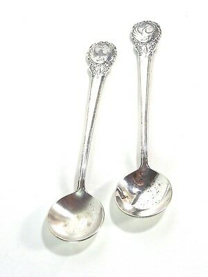 Pair Vintage JAPAN AIRLINES FIRST CLASS CABIN DESSERT SPOONS w/ Stork Logo