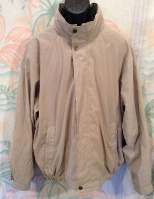 3018cc242 Roundtree & Yorke Outdoors Men's Full Zipper Jacket Size XL Beige Hidden  Hood