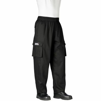 Chefwear 3200-30 X-Large Black Cargo Pants