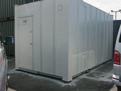 16ft x 9ft Anti Vandal Male & Female 3+1 site toilet portable cabin £1795+vat