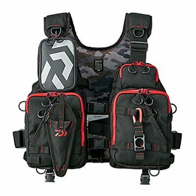 Daiwa FLOAT GAME VEST Black Red Free Size DF-6206 Free Shipping with Tracking