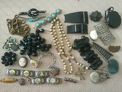 Job Lot Of Antique Vintage Jewellery For Spare Repair