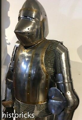 Gothic Suit Of Armour - Full Size On Plinth
