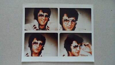 Elvis Colour Photo - 4 on a sheet - with glasses