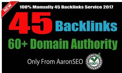 Limited Time- 45 Backlinks from High DA-60+ Domains-Skyrocket your Google RANKIN