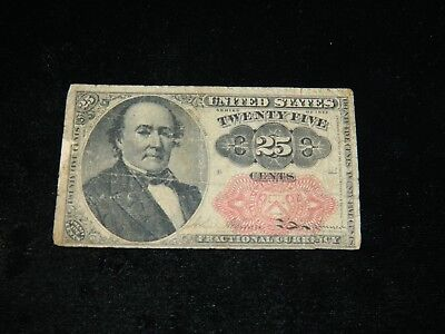 1874 United States 25 Cent Fractional Currency 5Th Issue
