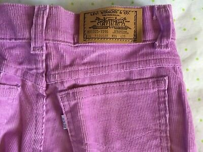 LEVI'S 31325-1596 girl 14 reg 26 X 31 purple corduroy jeans NOS USA VTG 1981 NEW