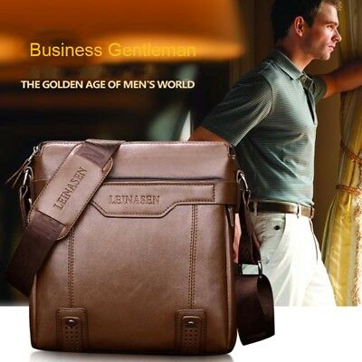 708cf79990a2 Men s Leather bag Male Shoulder Crossbody Bag Casual Handbag Small Messenger  Bag