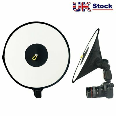 RoundFlash Beauty Dish Collapsible Softbox for External Camera Hot Shoe Flash UK