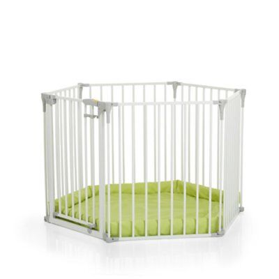 HAUCK BABY PARK PLAYPEN WITH MAT & ROOM DIVIDER White with Gate