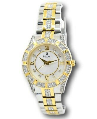 Bulova 98L135 Women's Two Tone Gold Stainless Crystal Accents Watch