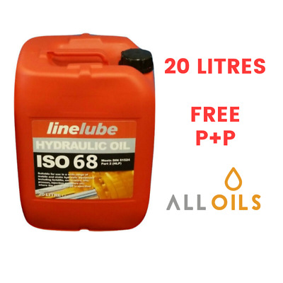 LineLube Industrial Hydraulic Oil 68 ISO68, VG68, HL68 HLP68 20 L Litres