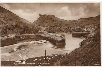 Cornwall Postcard - Boscastle Harbour - Real Photograph - Ref 887A