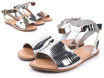 ffde0717475 Silve Sexy Women Open Toe Strappy Ankle Buckle Closure Gladiator Sandal  Size 6