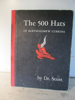 The 500 Hats of Bartholomew Cubbins by Dr. Seuss 1938 First Edition 1st Printing