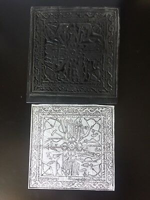 Buddhist - Antique Printing Plate from Mongolia with Print - Wood