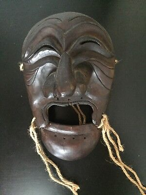 Korea - Antique Mask - Hahoetal - Yangban - Wood