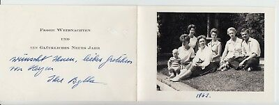 Autograph: Pss Sibylle of Sweden - Pss Saxe Coburg & children RARE SIGNED card