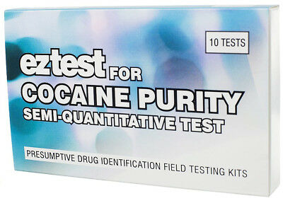EZ Test for Cocaine Purity (10 tests) Drug Testing Kit To determine Amount New