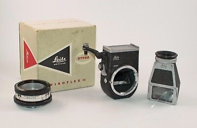 Leitz Leica Visoflex II M39, with finder and focusing mount. Very nice and good.