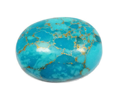 38.90 Ct Natural Oval Shape Blue Copper Turquoise Loose Cabochon Gemstone