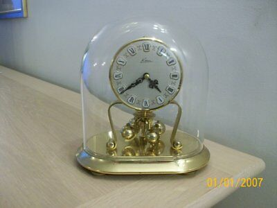 A Vintage  Anniversary Clock  Kern  West  Germany Spares/repair Wind Up & Dome