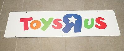 Toys R Us Logo Store Display Large Sign Styrene Thick Plastic 5ft x 1.5ft