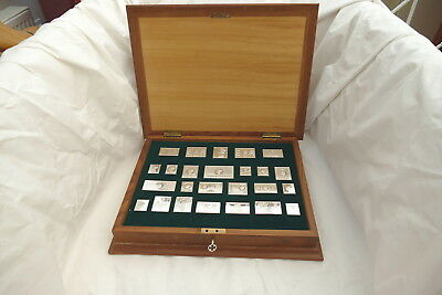 RARE SET of 25 HM STERLING SILVER THE STAMPS OF ROYALTY