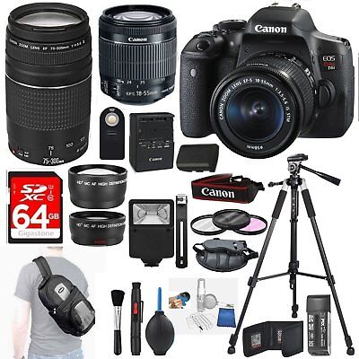 Canon EOS Rebel T6i Digital SLR + 18-55mm STM + Canon Accessory Bundle 3pc