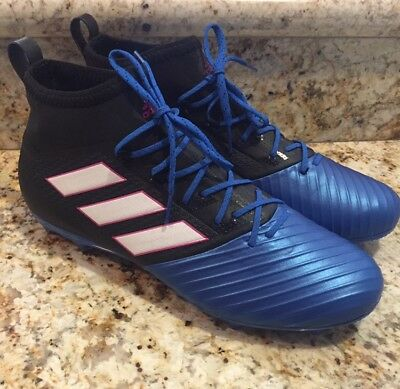 premium selection 9bfe7 0d415 ADIDAS ACE 17.2 Primemesh FG Firm Ground Blue/Black Soccer Cleats Sz 11.5  BB4325