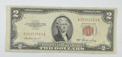 1953 $2.00 Red Seal United States Currency Note *185