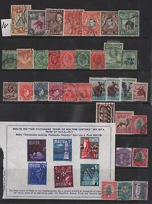 British Colonies Nigeria And Other Lot Of Old Stamps & Ss #1V