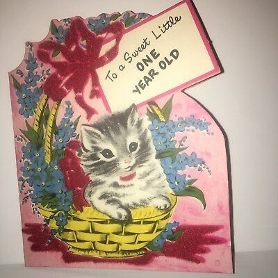 Vintage Flocked Cowboy Hat Birthday Card 1950 s 2 year old Signed Die cut JJ.   17.77 Buy It Now 15d 5h. See Details. Vintage 1950 s Kitty Cat Kitten In  ... 7c7f522add75