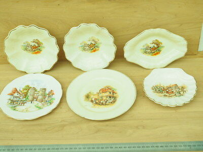 Vintage Old English China Plates Lot, (K226)
