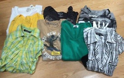 Lot of Womens Shirts Size Small 8 Items Career Casual Ann Taylor Pink Old Navy