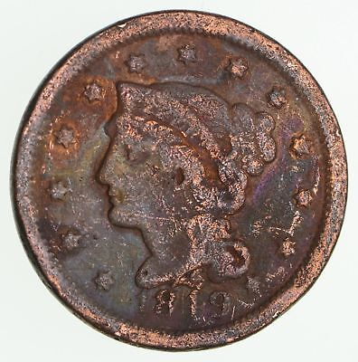 1849 - US Type Coin Braided Hair Large Cent *131
